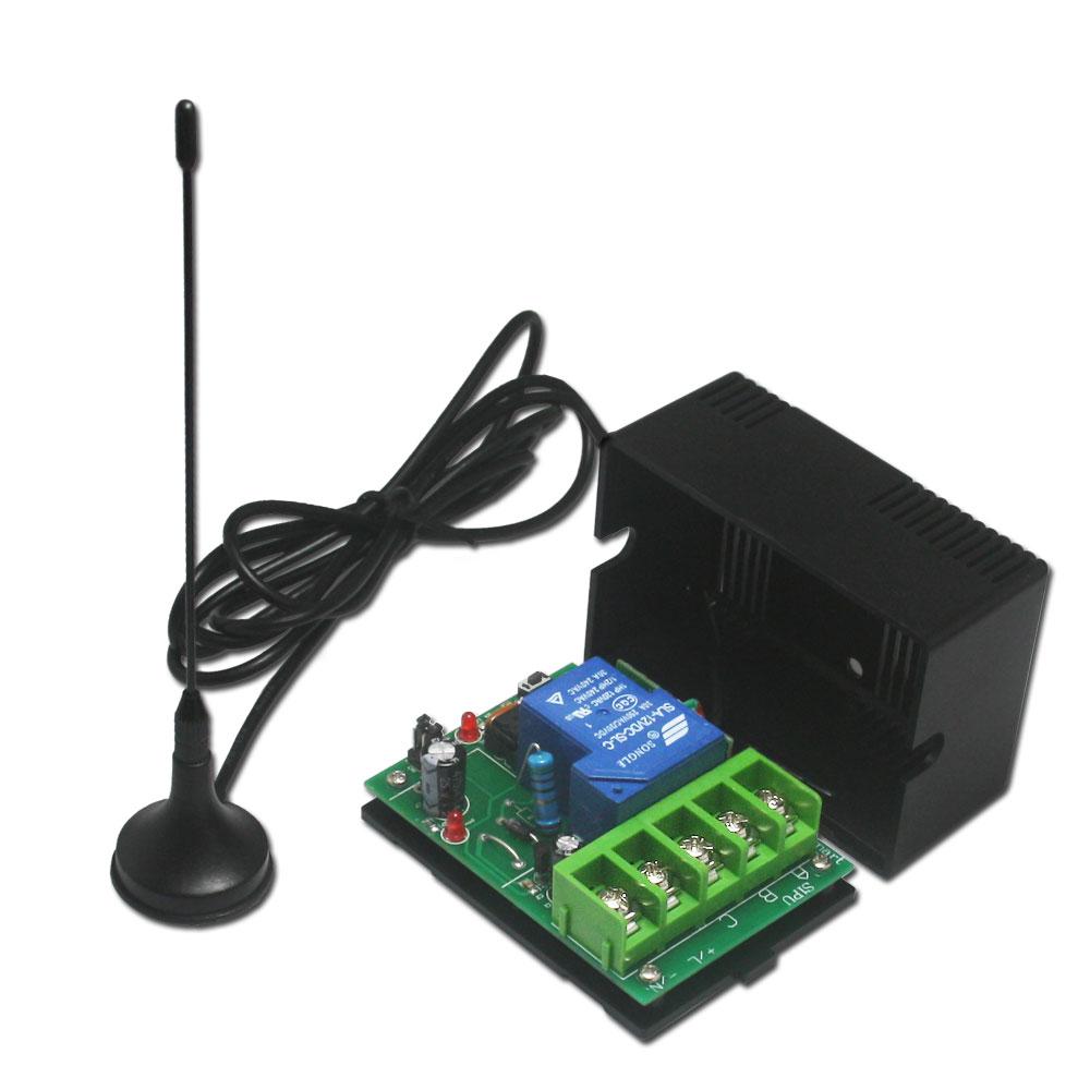 commande radio metteur sans fil avec 2 fils connect s l appareil haute puissance 315mhz. Black Bedroom Furniture Sets. Home Design Ideas